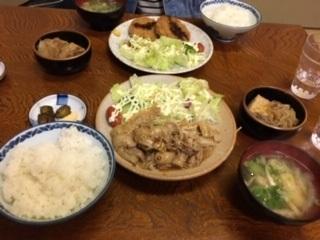 生姜焼き定食(みそ汁、おしんこ付き)イメージ画像